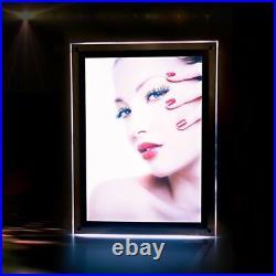 A2 Slim LED Illuminated Wall Mounted Crystal Frame Poster Display Menu Board