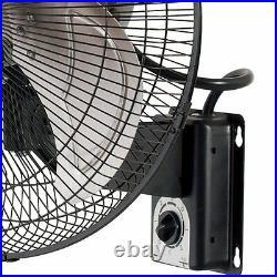 Active Air ACFW16HDB Heavy-Duty 16 Inch 3 Speed Metal Wall Mount Tilting Fan (2)
