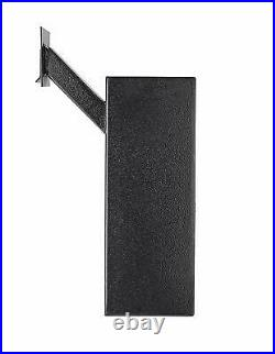 AdirOffice Black Steel Mail Box Through-the-Wall Paper Key Drop Box With Chute