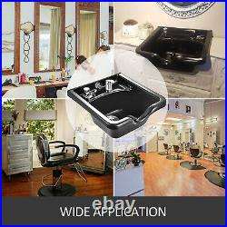 Adjustable Shampoo Bowl Hair Sink Basin Hiar Barber Spa Equipment Neck Rest