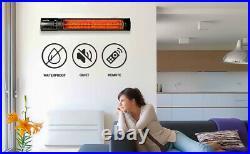 Aluminum 750 / 1500W Wall Mounted Patio Heater Indoor Outdoor Electric Warmer