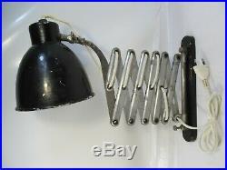 Antique Vintage Retro Industrial Factory Work Shop Wall Mounted Scissor Lamp