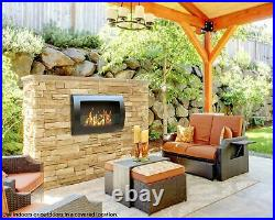 Anywhere Fireplace Chelsea Model in Black Wall Mount Bio-Ethanol Fireplace