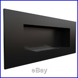BIO ETHANOL FIREPLACE 900x400 WALL MOUNTED DESIGN ECO FIRE BURNER + ACCESSORIES