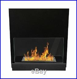 BIO ETHANOL FIREPLACE DESIGN ECO FIRE BURNER WALL MOUNTED + 1L FUEL / 45x47 cm