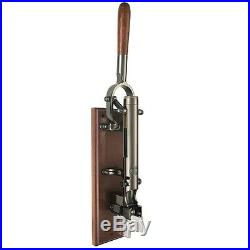 BOJ Professional Wall-mounted Corkscrew with Wood Backing (Black Nickeled)
