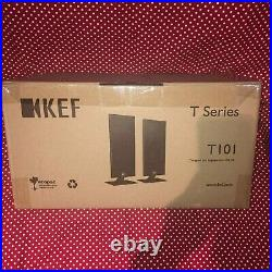 BRAND NEW KEF T101 Ultra-thin WallMount home theatre speakers LEFT&RIGHT (Black)