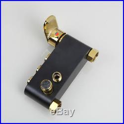 Bathroom Black&Gold Shower Head Complete Shower Unit Valve Wall Mount Mixer Tap