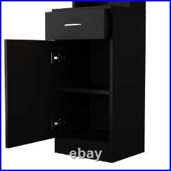 Beauty Salon Hair Styling Barber Station Wall Mount Cabinet Dressing With Drawer