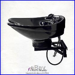 Beauty Salon Tilting Shampoo Bowl CERAMIC Wall Mounted Shampoo Sink TLC-B07-WT