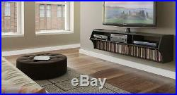 Black 58 Floating TV Stand Media Console Entertainment Center Unit Wall Mounted