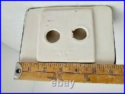 Black Ceramic Soap Dish Tray Tub Shower Vintage Mid Century Modern Color K111