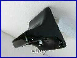 Black Ceramic Toothbrush Holder Tumbler Cup Tray Vintage Mid Century Modern K111