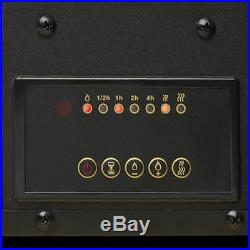 Black Electric Fireplace 50 Wall Mount Timer Remote LED Adjustable Flame & Heat