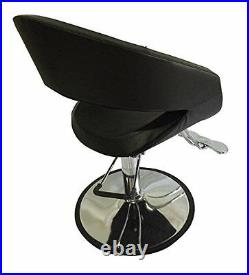 Black Oval Barber Chair Comfort Styling Salon Beauty Equipment DS-SC4001