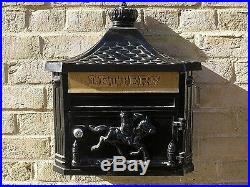 Black wall Post Box Wall Mounted Aluminium Black Wall Mail Box