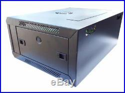 CNAweb 19 4U Wall Mount Network DVR NVR Data Cabinet Enclosure Black