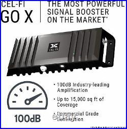 Cel-Fi GO X Cell Phone Signal Booster 1 Panel Antenna Bundle Kit (Refurbished)