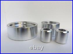 Complete Belt Knife Grinder Wheel Set, 6 Drive 24mm 4 Tracking, 2 Idler Wheels