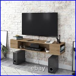 Decorotika Peti Floating TV Stand Cabinet TV Unit Multimedia Storage Wall Mount