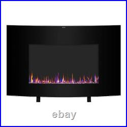 Electric 35 Fireplace Safe Ultra Thin Wall Mounted Heater Multicolor Flame 2021
