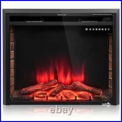 Electric Fireplace Insert 30 Wall Mounted Remote Control Different Color Adjust