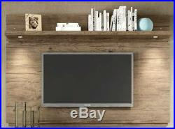 Floating Entertainment Center Rustic Wall Mounted Media 60 Inch TV Stand Wood