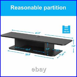 Floating TV Stand Wall Mounted Storage Shelf Cabinet Entertainment Center Black