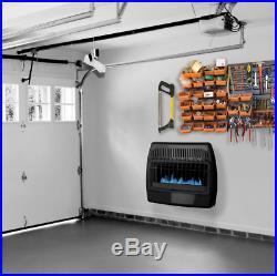 Gas Wall Mount Heater Dual Fuel Liquid Propane or Natural 30K BTU Ventless Black