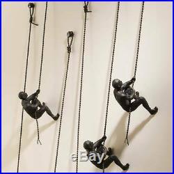 Global Views Metal Climbing Man Wall Mounted Art Sculpture 8.80849
