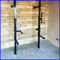 Heavy duty wall mounted squat racks with accessories made to order