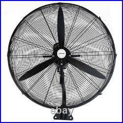 Heller 75cm Industrial Wall Mounted Fan Air Cooler/Mount/Oscillating/3 Speed/BK