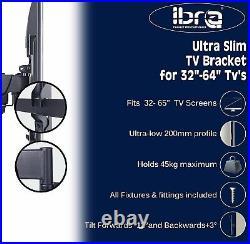 IBRA Ultra Slim Tilt Swivel TV Wall Bracket Mount For 32 65 Inch LED LCD