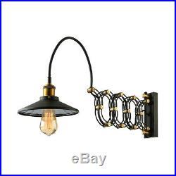Industrial Wall Sconce Light Lamp Extension Scissor Arm Loft Wall Mount Fixture