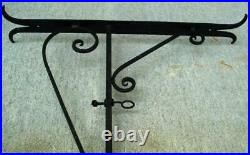 Iron Store Sign Bracket Holder Wall Mount Old Trade Wrought Metal Adjustable