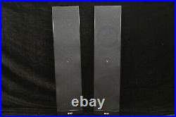 KEF Ultra-Thin Wall Mount Speakers Pair, Black Ex Condition Only 1 1/2 Thick