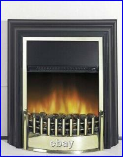 LED Electric Fireplace 2000W Freestanding Wall Mounted Stove Glass Heater