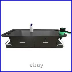 Locking Wall Mount Styling Station Barber Beauty Salon Spa Equipment Large Space