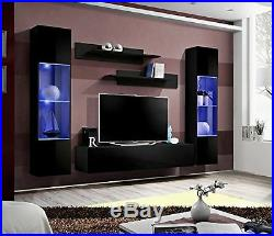 MEBLE FURNITURE & RUGS Wall Mounted Floating Modern Entertainment Center Fly