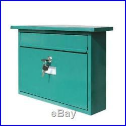 Mail Box Letter Mailbox Postal Lockable Secure Mail Letter Wall Mount 2pcs Keys