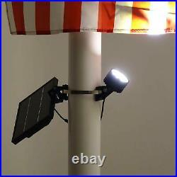 Mini 120X Solar Powered Flag Pole Light (Warm White LED)