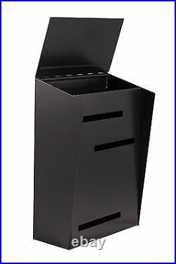 Modern Mailbox Mid Century Modern Mailbox Two Tone Black Vertical