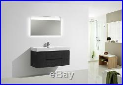 Moreno Bath 60 Bathroom Vanity Wall Mount Single Sink Black Cabinet
