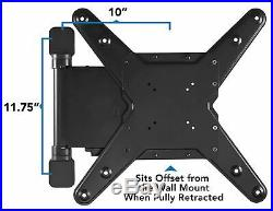 Mount-It! Motorized TV Wall Mount Bracket with Full Motion Fits 32-55 Inch TVs
