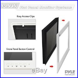 New Pyle 9'' Video Monitor Panel Display Screen HD 1080p Universal Mount in Wall