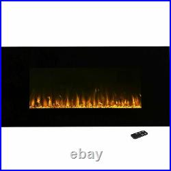 Northwest LED Fire and Ice Wall Mount Fireplace with Remote 42 Inches Timer