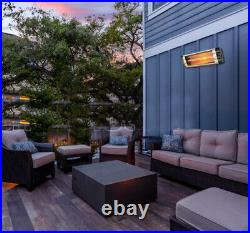 Outdoor Electric Infrared Patio Heater Carbon Fiber 1.5kW Wall mounted + Remote