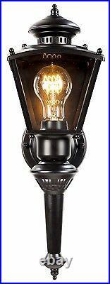 Outdoor Motion Sensor Wall Lantern Exterior Glass Light Fixture Patio Porch Lamp
