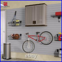 Outdoor Storage Shed Cabinet Garden Pool Yard Utility Garage Patio Wall Mounted