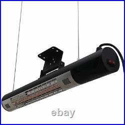Outsunny 1500W Electric Halogen Heater Garden Warmer Wall Mount Remote Control